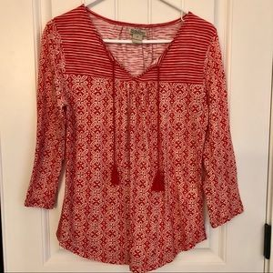 Women's Lucky Brand 3/4 sleeve Top size Small